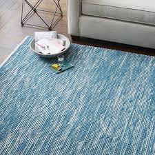 pleasing west elm blue rug lovely hand loomed shine lagoon