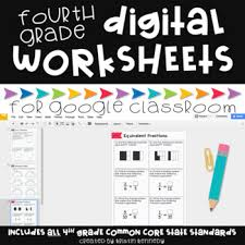 digital math worksheets for google classroom 4th grade common core