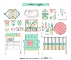 newborn essentials newborn essentials shopping list vector baby stock vector
