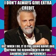Dos Equis Guy Meme Generator - i don t always give extra credit but when i do it is for going