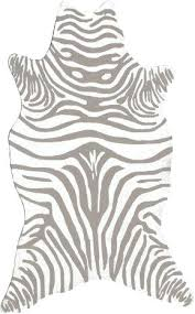 Zebra Bath Rug Mesmerizing Grey Zebra Rug Classof Co
