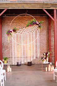 wedding backdrop altar 21 boho wedding ideas with macrame details elegantweddinginvites