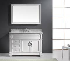 Virtu USA Victoria Single Inch Transitional Bathroom Vanity - White 48 inch bath vanity