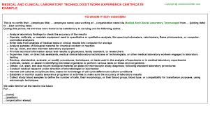 resume medical technologist microbiology cover letter for medical technologist radio technician cover