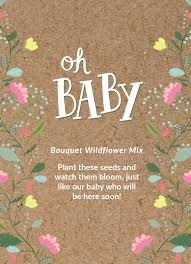 wildflower seed packets baby shower oh baby seed favor bentley seeds