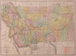 Montana Map by Antique Maps Of Montana