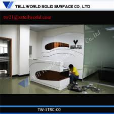 Fancy Reception Desk China Fancy Beauty Curved Small Hair Salon White Reception Desk