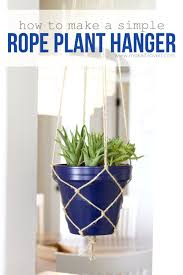 how to make a simple plant hanger make it and love it