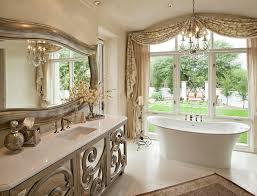 Mirrors Vanity Bathroom Mirrored Bathroom Vanity Bathroom Mediterranean With Beige