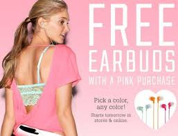 pink victoria secret black friday sales victoria u0027s secret coupon free earbuds with any pink purchase