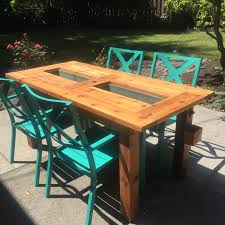Patio Table Cooler by Ice Box Wood