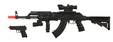 ak 47 laser light combo ukarms p1194 tactical ak47 spring rifle w mock scope w blue