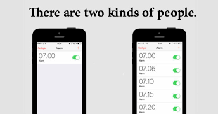Iphone Alarm Meme - image 873502 there are two types of people know your meme