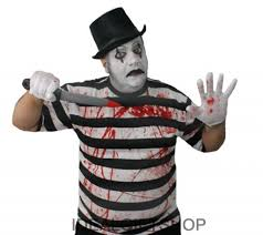 french halloween costumes adults killer mime fancy dress costume halloween 5 piece set scary