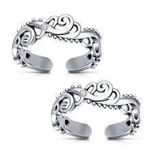 online rings silver images Buy white platinum plated 925 sterling silver rd cz fancy toe ring jpg