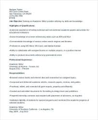 Technical Writer Resume Samples by 8 Writer Resumes Free Sample Example Format Download Free