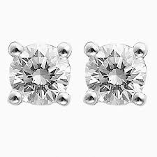 diamond earrings nz 0 60ct g i1 brilliant cut solitaire diamond stud earrings 4