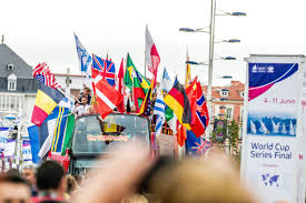 Top Flags Of The World Open Top Bus Welcome For World Cup Final Sailors Sailing World Cup