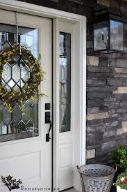 new painted front door the wood grain cottage