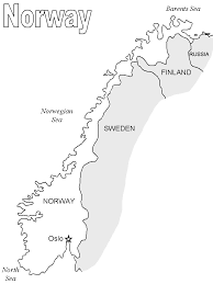 printable map of norway norway map2 countries coloring pages