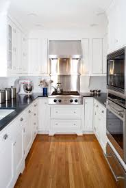 Small Galley Kitchen Designs Elegant Small Galley Kitchen With White U Design Galley Kitchen