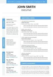 resume executive assistant resume sample 2013 blue template