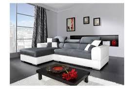 canap cuir et microfibre canapé d angle madrid i cuir pu et microfibre gris et blanc