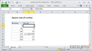 What Is The Square Root Of 1000 Excel Formula Nth Root Of Number Exceljet