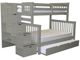 Staircase Bunk Beds Twin Over Full by Bunk Beds Twin Over Full Stairway Gray Full Trundle 998