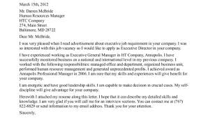 ideas of example of cover letter for leadership position with