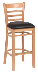 Wood Bar Stool With Back Roy 8002 N Blk Jpg