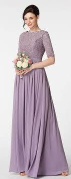 sleeved bridesmaid dresses wisteria purple modest bridesmaid dress with sleeves lace