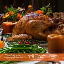 thanksgiving day fourth thursday in november national day calendar
