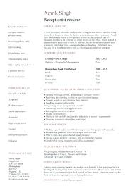 Example Secretary Resume 100 Receptionist Profile Resume Beach Book Report Popular