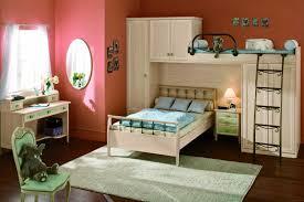 bedroom astonishing interior brown wooden storage under bunk bed