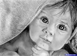how to draw a baby in a blanket pencil art drawing