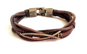 leather bracelet men faith bracelet christian leather