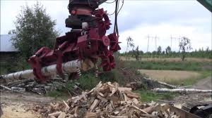 extreme wood cutting machine firewood processing machine in action