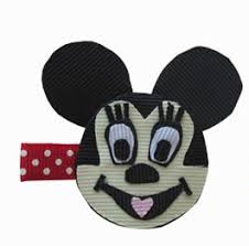 mickey mouse hair bow disney tangled inspired hair bow tangled hair clip character