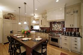 Kitchen With Brick Backsplash Red Brick Backsplash With Exterior Deck Stone Window Trim