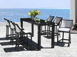 Outdoor Bar Table And Stools Cabanacoast Sling Bar Stools Outdoor Pool Bar Furniture Jpg