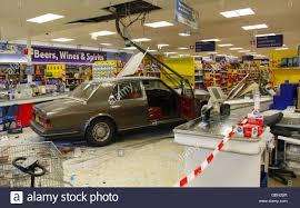 murdered rolls royce rolls royce supermarket crash stock photo royalty free image