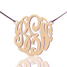 initials jewelry personalized monogram necklace gold color custom monogrammed