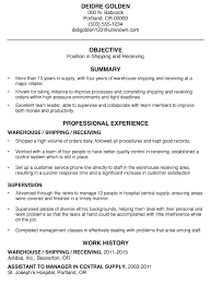 resume exles for warehouse functional resume sle shipping and receiving