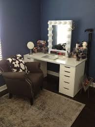 makeup vanity walmart modern with drawers table mirror and bench