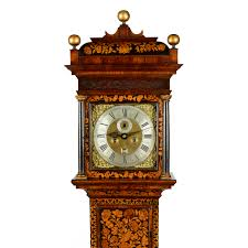 william u0026 mary walnut and floral marquetry longcase clock john
