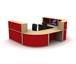 u shaped reception desk mobili u shaped reception counter in sand zebrano mfc with red