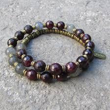 garnet gemstone bracelet images Genuine garnet gemstone 27 beads mala bracelet with tree of life jpg