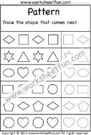 patterns u2013 what comes next u2013 1 worksheet patterns pinterest