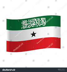 Flag That Is Green White And Red National Flag Somaliland Green White Red Stock Vector 793888246